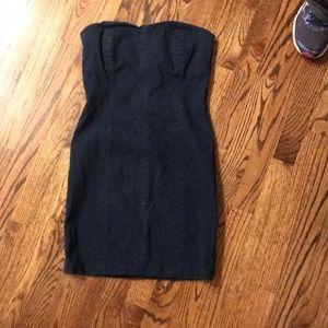 Strapless BEBE Jean Dress